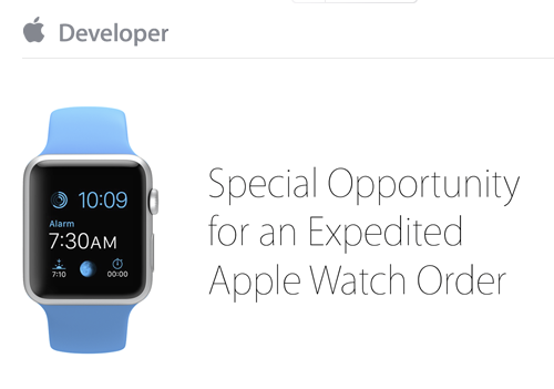 expedited Apple Watch orders for developers