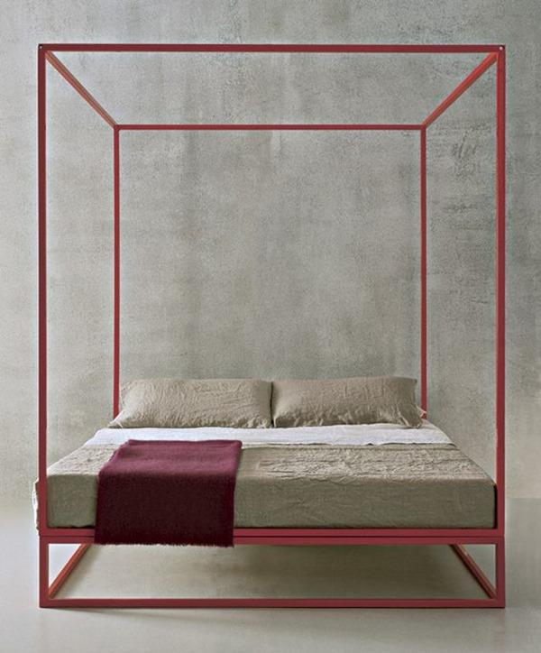 letto_a_baldacchino_contemporaneo_rosso_geranio