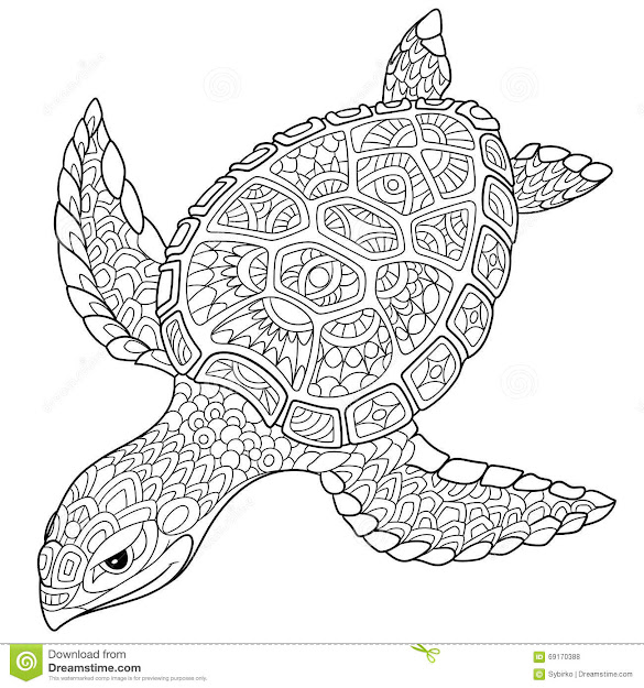 Zentangle Stylized Turtle