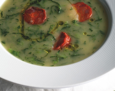 Caldo Verde (Portuguese Spinach Soup)