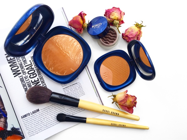 kiko baked bronzer, kiko bronzer duo, bobbi brown makeup brushes
