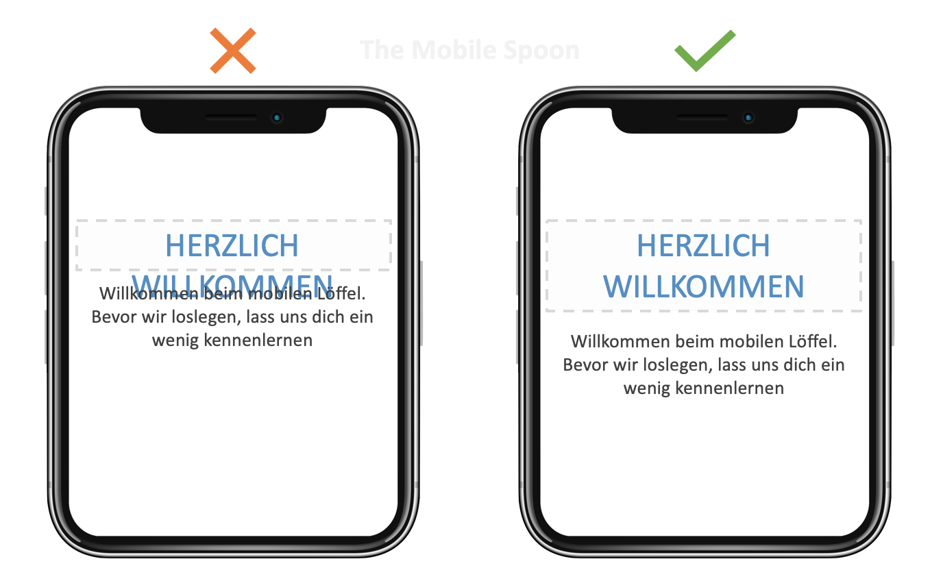 Mobile UI Design - think about localization in every label