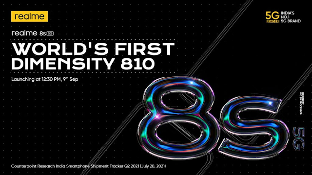 Realme 8S 5G Launching on 9th September at 12:30 PM