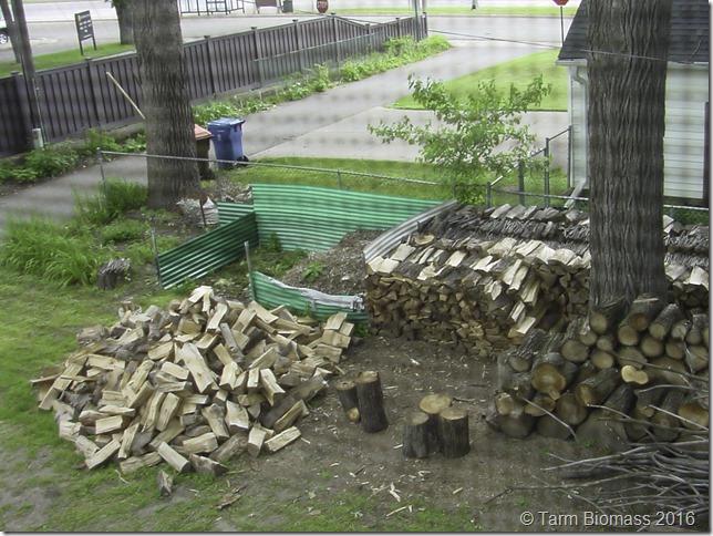 Froling FHG wood pile
