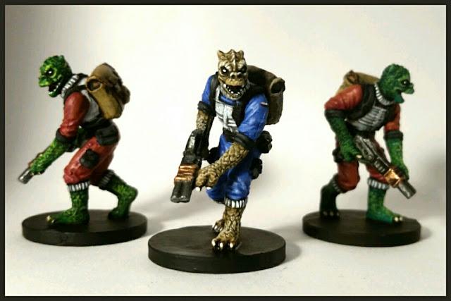 Trandoshans hunters pintados por Xela