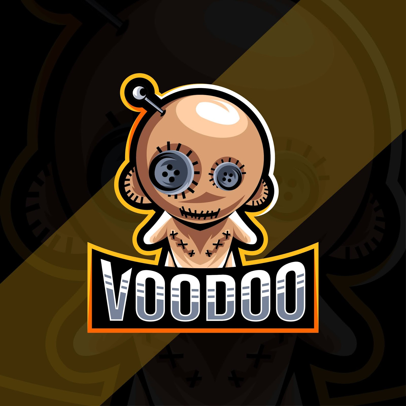 Voodoo Mascot Logo Esport Template Free Download Vector CDR, AI, EPS and PNG Formats