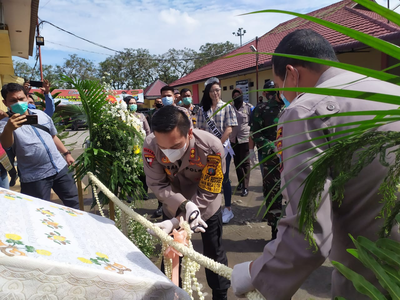 Wakapolrestabes Medan Resmikan Taman Satwa Mini Polsek Helvetia