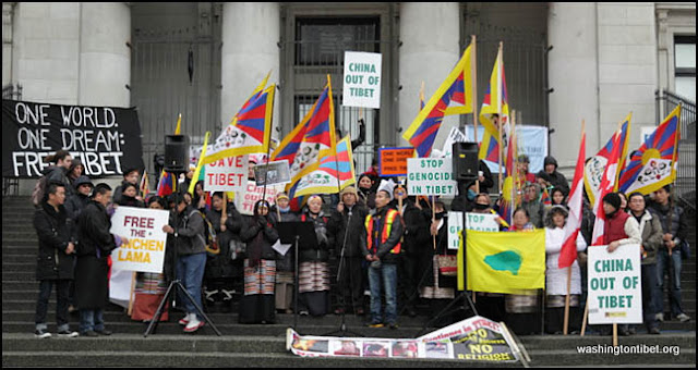 Global Solidarity Vigil for Tibet in front of the Chinese Consulate in Vancouver BC Canada 2/8/12 - 72%2Bgroup%2Bpano.jpg