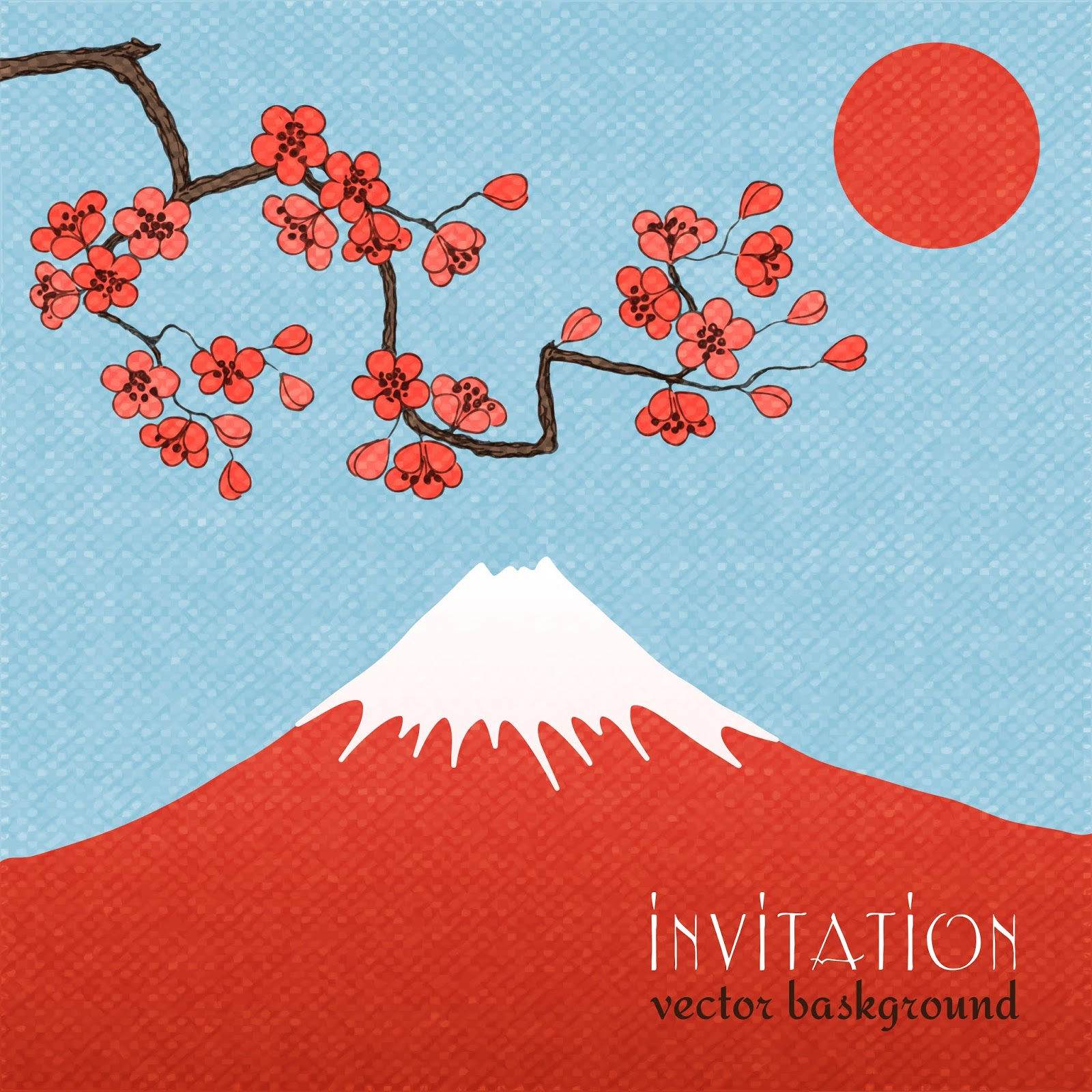 Sakura Invitation Card Background Poster Free Download Vector CDR, AI, EPS and PNG Formats