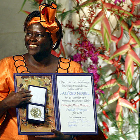 When she was awarded the Nobel Peace Prize in 2004, she became the first African woman in history to receive it. Previous African winners include Nelson Mandela and Desmond Tutu