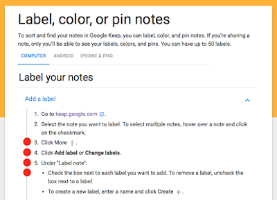 ADDING LABELS to Keep Notes—What's the Shortcut/keyboard