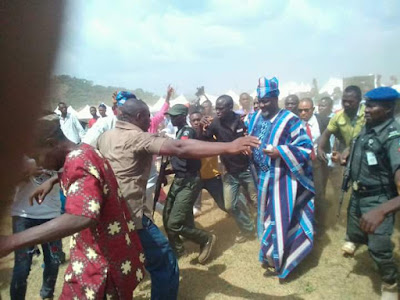 Melaye pelted with stones at Kabba Day celebration