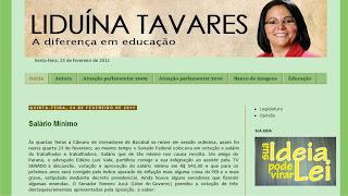IMAGEM - Site da vereadora Liduína Tavares
