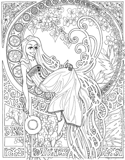 Unique Coloring Pages For Teenagers Difficult Fairy Pictures