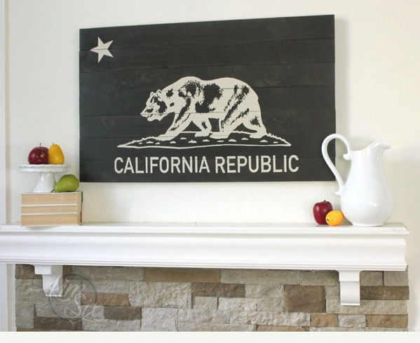 Reclaimed Wood California Republic Sign