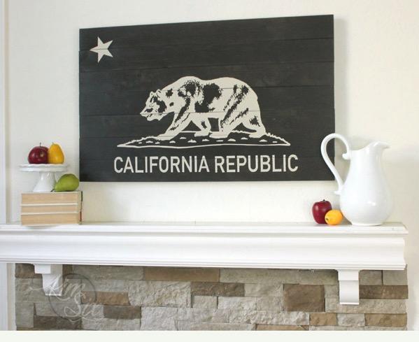 Reclaimed Wood California Republic Sign