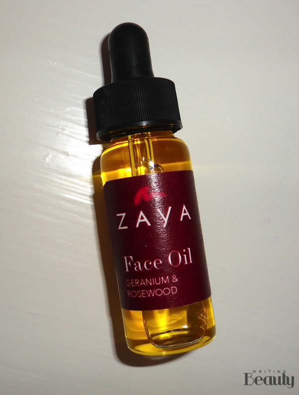 Zaya Geranium  Rosewood Face Oil Review