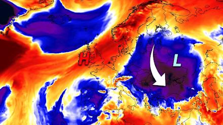 Ψυχρή εισβολή θα ρίξει τον υδράργυρο κατά 15 βαθμούς κελσίου μέσα σε 36 ώρες στην ανατολική και νοτιανατολική Ευρώπη