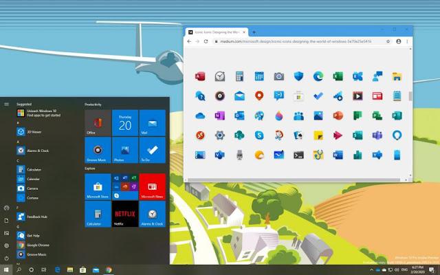 Windows 10 UI Screenshot