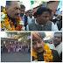 कांग्रेस जनों ने प्रभारी मंत्री का किया आत्मीय स्वागत ।