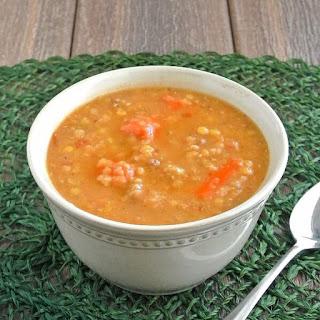 Slow Cooker Red Lentil Soup.