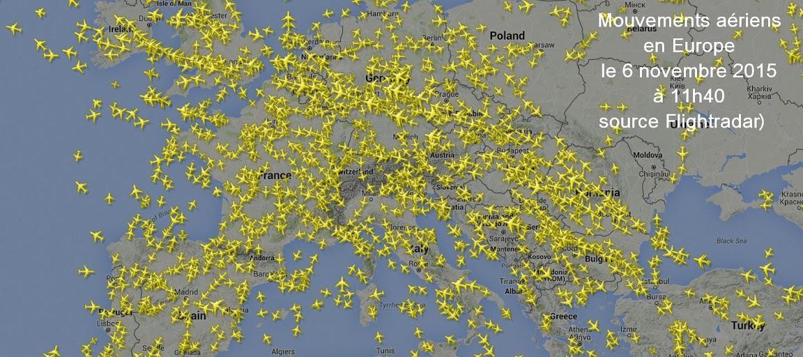Le trafic aérien en Europe