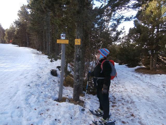 Dejamos la pista de ski y seguimos el camino