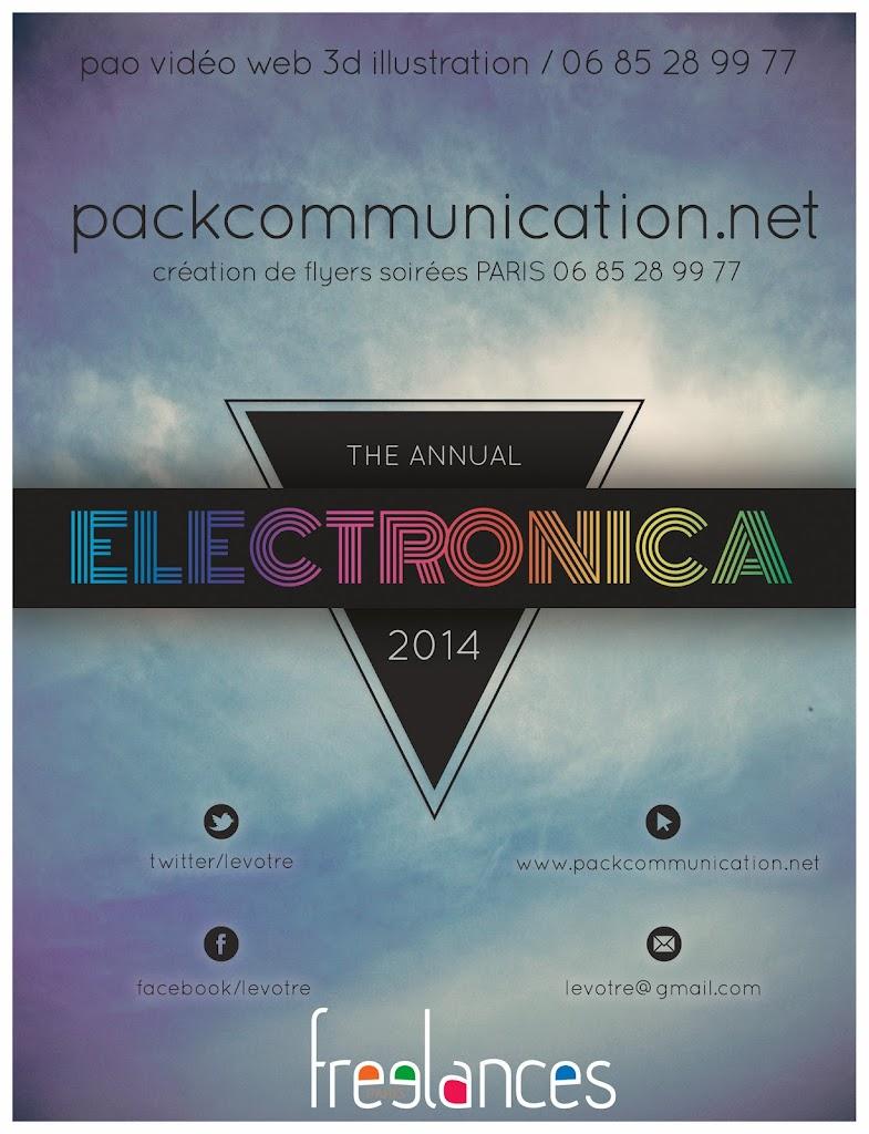 création flyers soirées thème Electronica