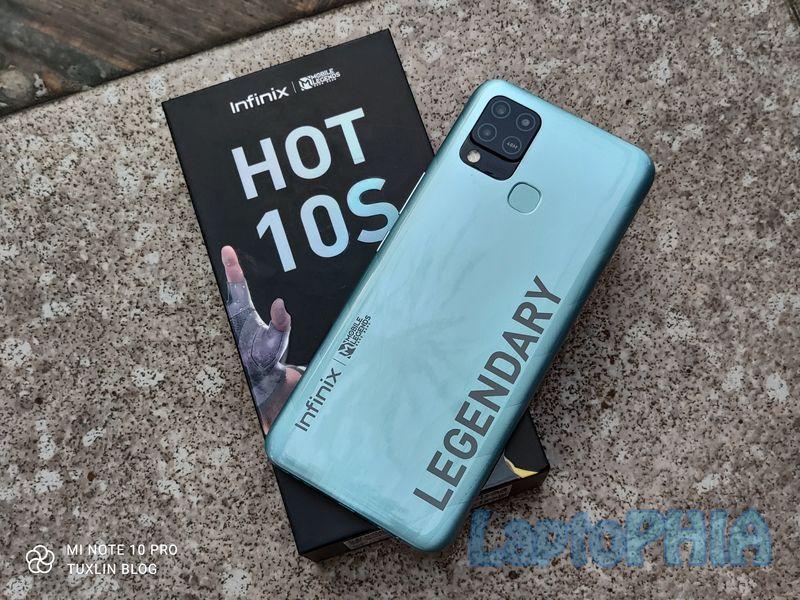 Desain Infinix Hot 10S