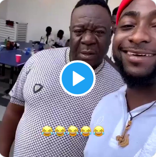 Davido and Mr Ibu crack fans up with hilarious video on social media (Watch)