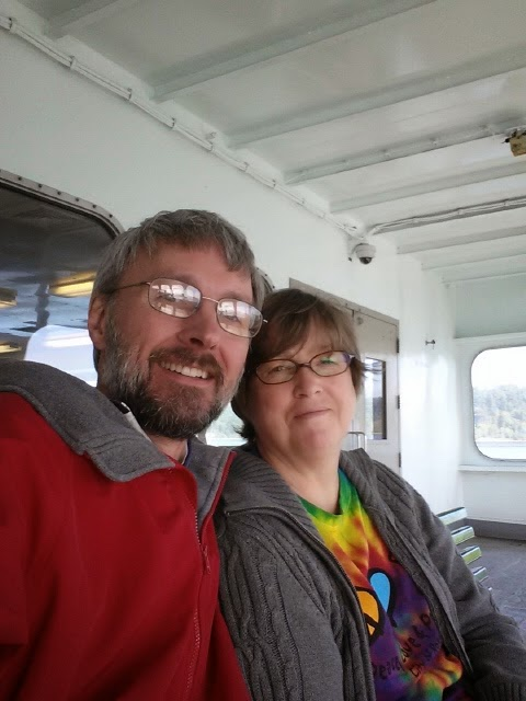 My Darling B and I on the ferry across Puget Sound to Bremerton