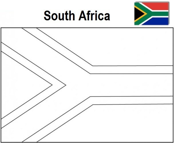 The Geography Blog: South Africa Flag coloring page