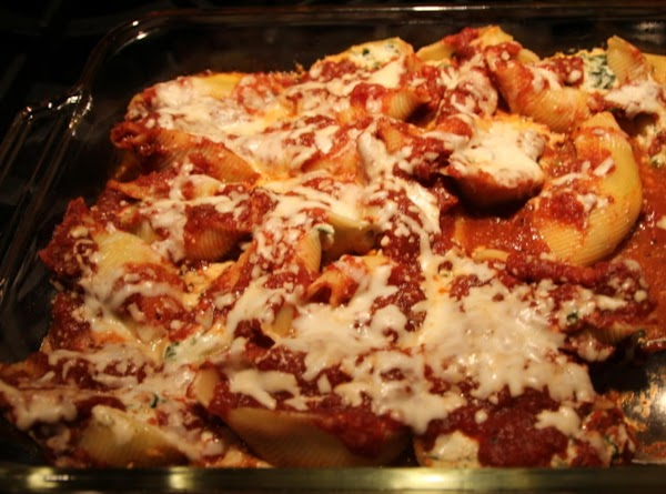 Cheesy Stuffed Shells With Smoky Marinara Recipe