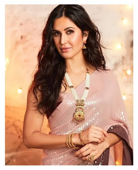 Katrina Kaif Festive shines Slay the sequined saree for Kalyan Jewellers' ad campaign!