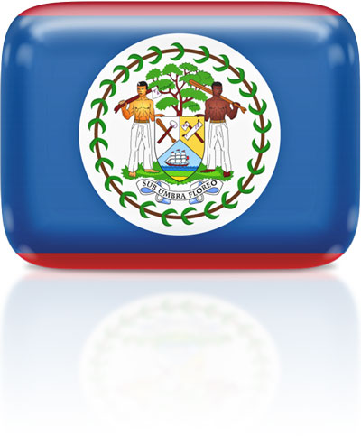 Belizean flag clipart rectangular