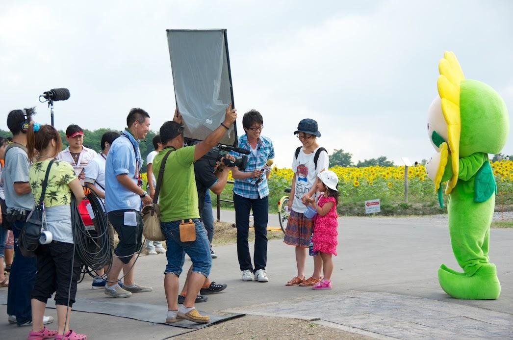 観光客にインタビュー
