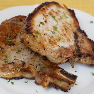 Garlic Thyme Pork Chops