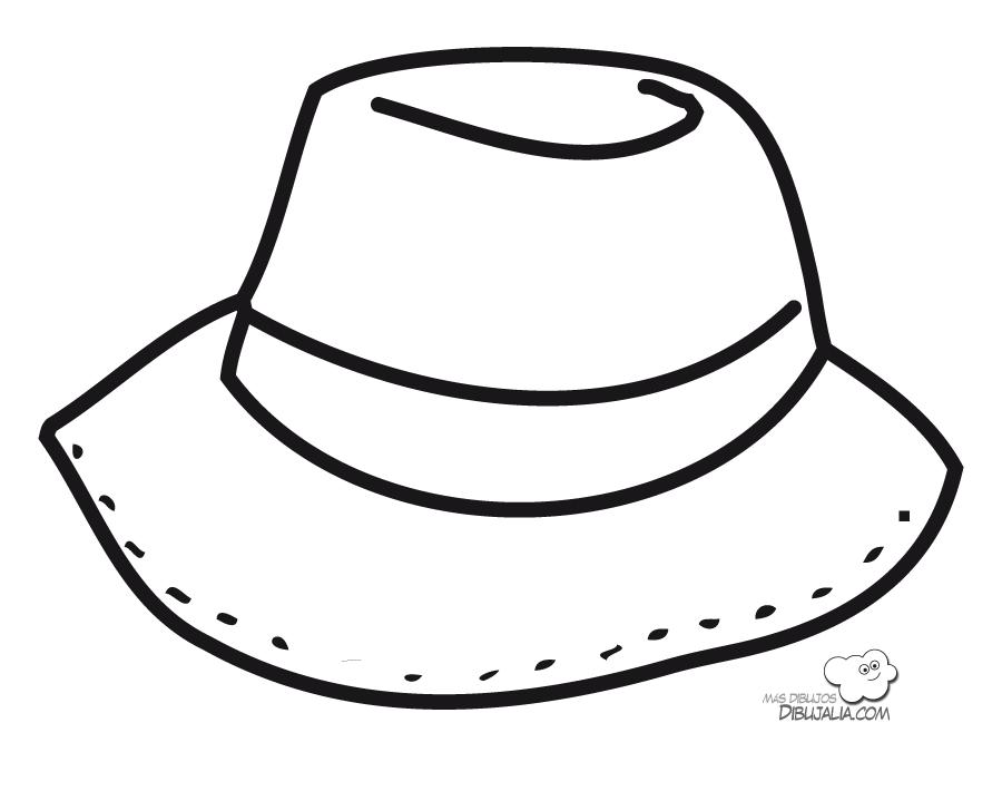 Bonito Sombrero para colorear | Dibujos para Colorear Gratis