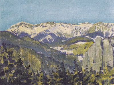 Koloman Moser - Landscape in Semmering, 1913