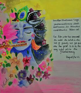 krishna painting by mukund kapoor