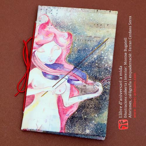 Llibre d'aniversari manuscrit fet a mida per Ferran Cerdans i Montse Bugatell