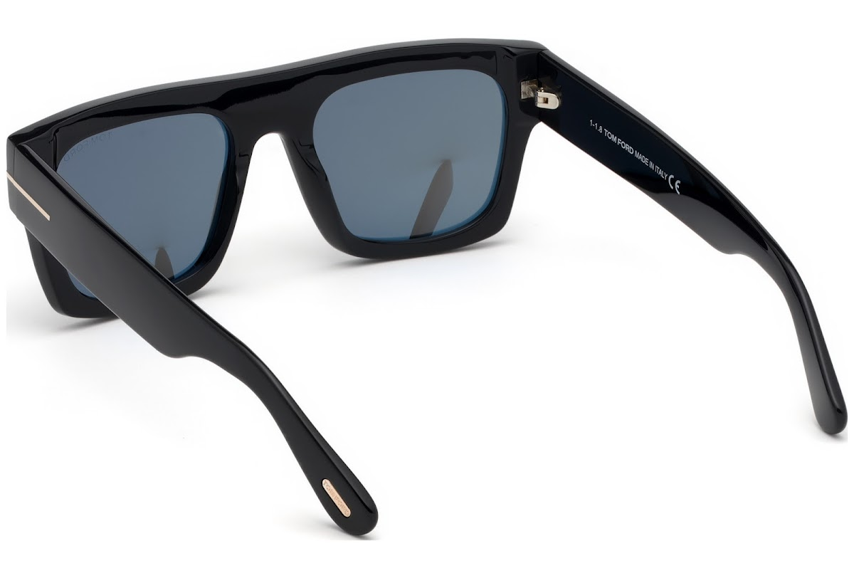 af9da76e08 Buy Tom Ford Fausto FT0711 C53 01A (shiny black   smoke) Sunglasses ...