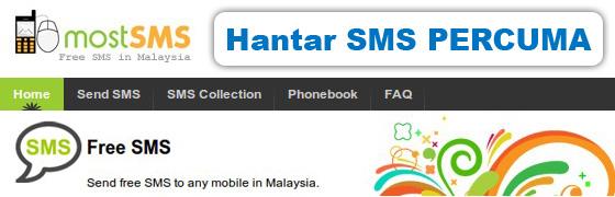hantar sms free dengan mostsms.com
