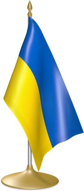 Ukrainian table flags - desk flags