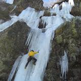 Fotos das fervenzas de xeo de Truchillas e de Trevinca (León), 11 e 12 de febreiro de 2012