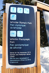 Signage for Whistler Olympic Park