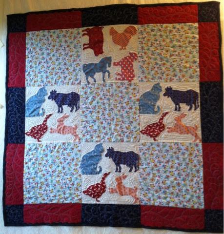 Joyce s crafts: Farm Animals Baby Quilt