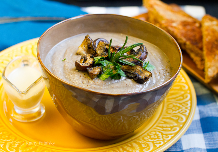 Vegan Cream Of Mushroom Soup With Not So Vegan Herb Bread Recipes ...
