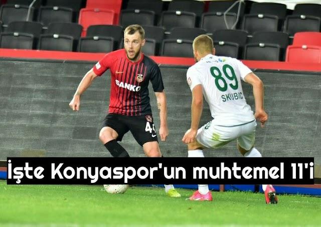 Konyaspor'da kadroda 3 değişiklik olabilir