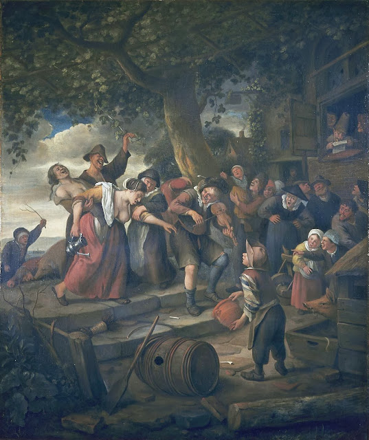 Jan Steen - 'A pig belongs in the sty'